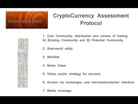 How To Assess A CryptoCurrency:  AltCoin Assessment Protocol.  What's the next big AltCoin?