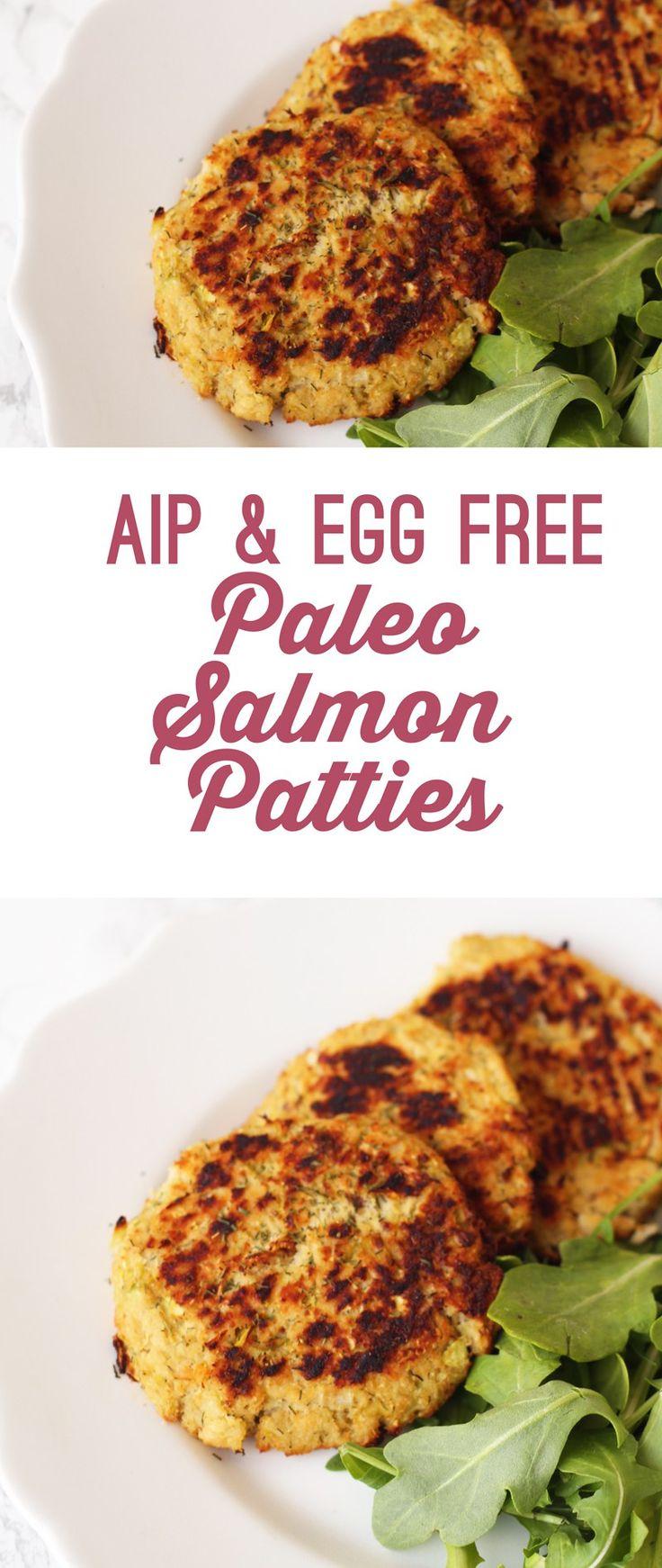 AIP Paleo Salmon Patties -- (paleo, AIP, gluten free, grain free, dairy free, egg free, soy free, nut free, refined sugar free)