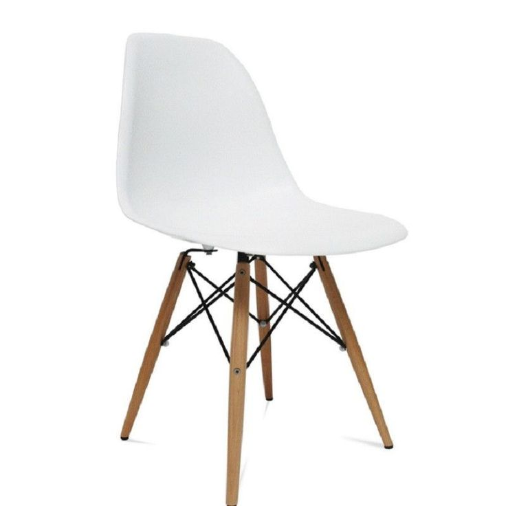Fine Mod Imports FMI2012 WoodLeg Dining Side Chair White