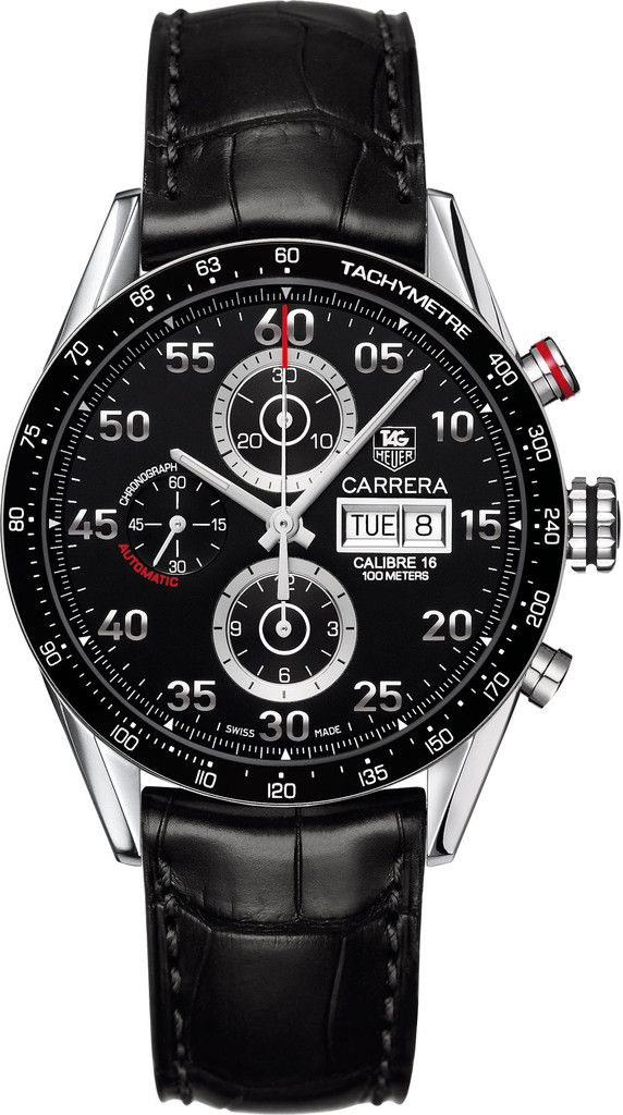TAG Heuer Watch Carrera Day Date Automatic Chronograph #bezel-fixed…