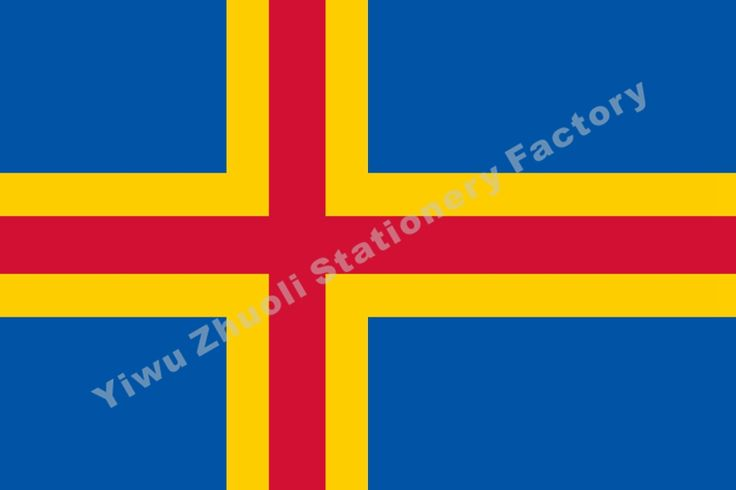 Finland Aland Islands Flag 150X90cm (3x5FT) 120g 100D Polyester Double Stitched High Quality Banner Free Shipping