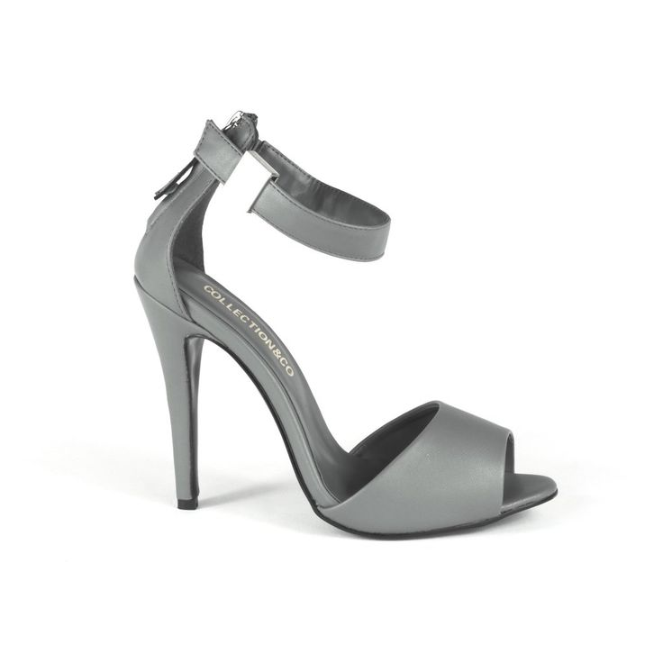 ALISSA Grey Heeled Sandal – Collection & Co