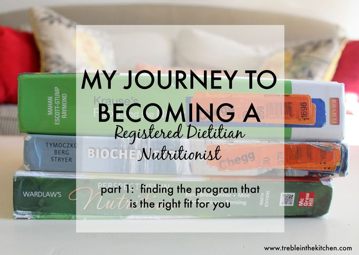 My Journey to Becoming a Registered Dietitian Nutritionist - Treble in the Kitchen