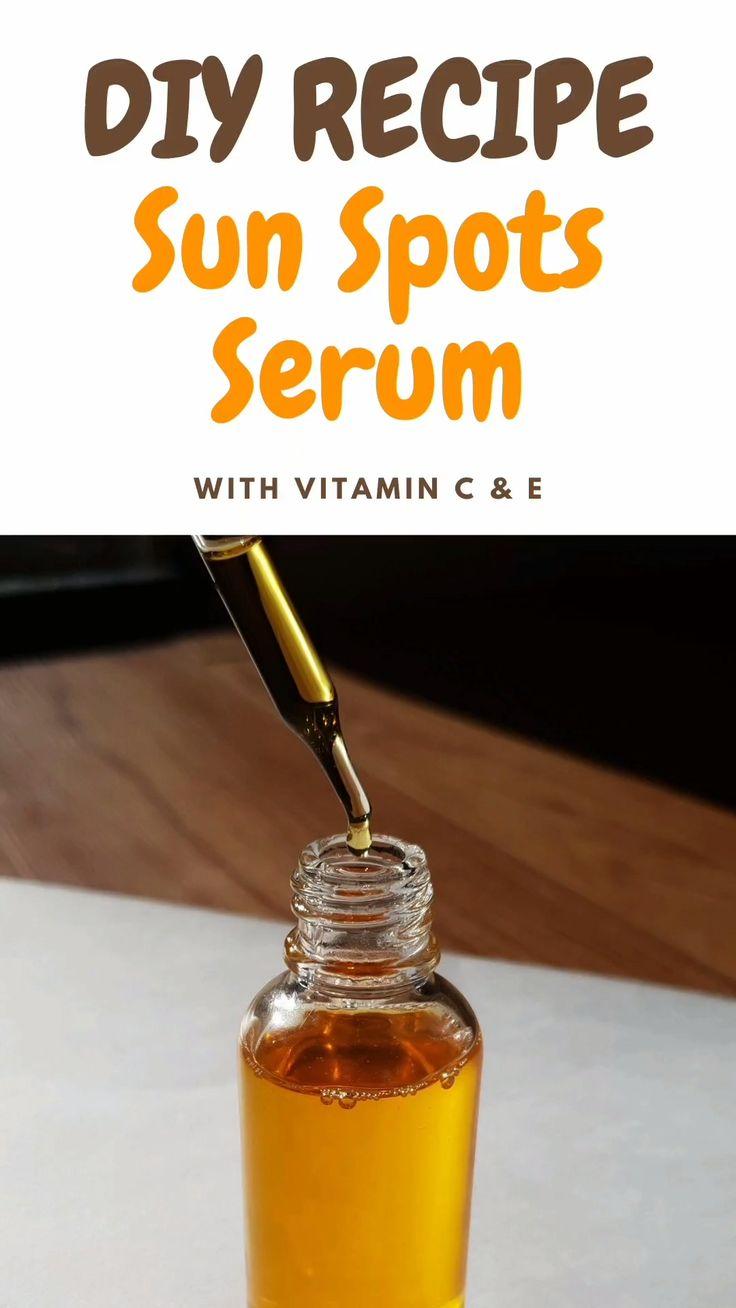 Homemade diy vitamin c face serum recipe to get rid of