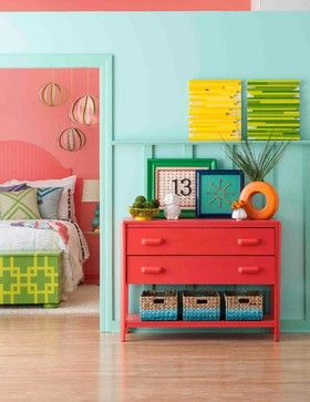Well, this would definitely brighten things up. Bedroom Photos Seafoam Design, Pictures, Remodel, Decor and Ideas
