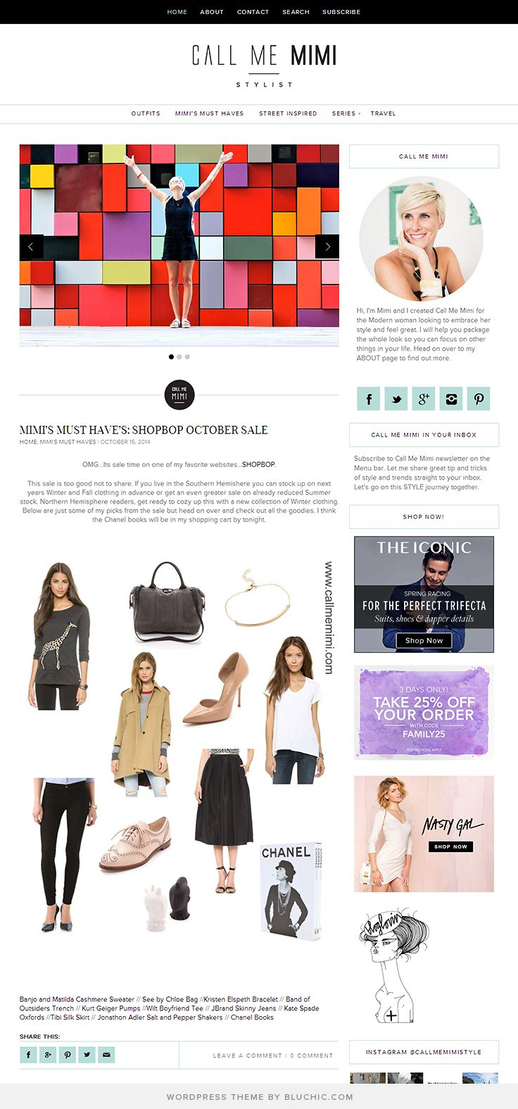 Gorgeous blog design for a fashion & lifestyle blog. Using Lynette WordPress Theme from Bluchic http://www.bluchic.com/shop/wordpress-themes/lynette-theme