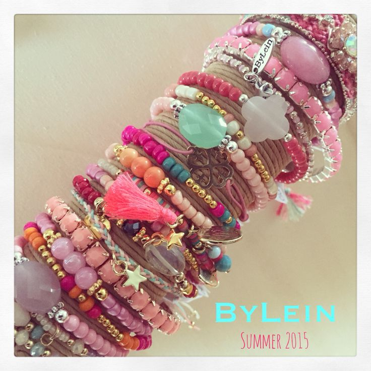 Summer Collection 2015 ByLein Jewelry Pink Ibiza style - mix&match - sieraden - boho - gypsy