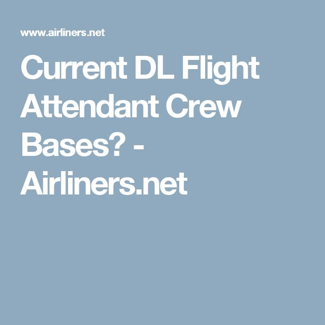 Current DL Flight Attendant Crew Bases? - Airlinersnet Flight - corporate flight attendant sample resume