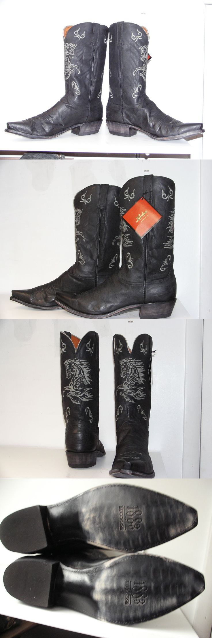 Western Boots 159002: New Lucchese 1883 Usa Men Matt Black Mad Dog Cowboy Boot N1630.54 Size 13 D -> BUY IT NOW ONLY: $199.95 on eBay!