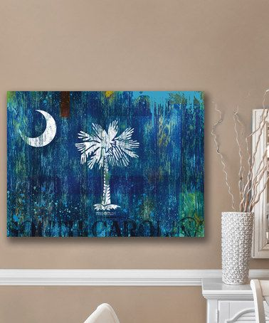 This South Carolina Palmetto Flag Wall Art by Patrick Reid O'Brien's My Town Art is perfect! #zulilyfinds