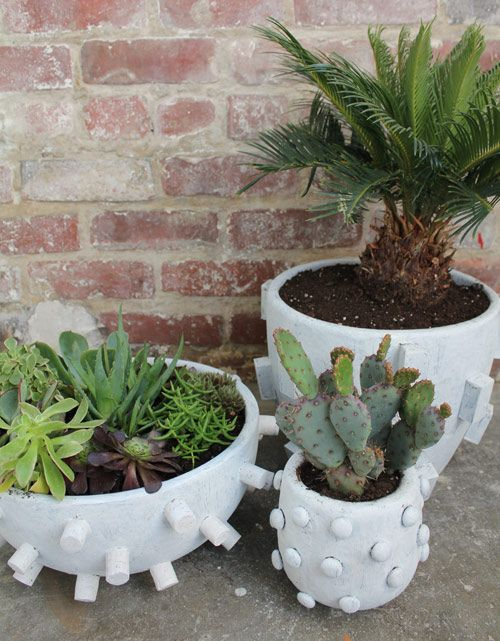 Diy Project: Textured Planters