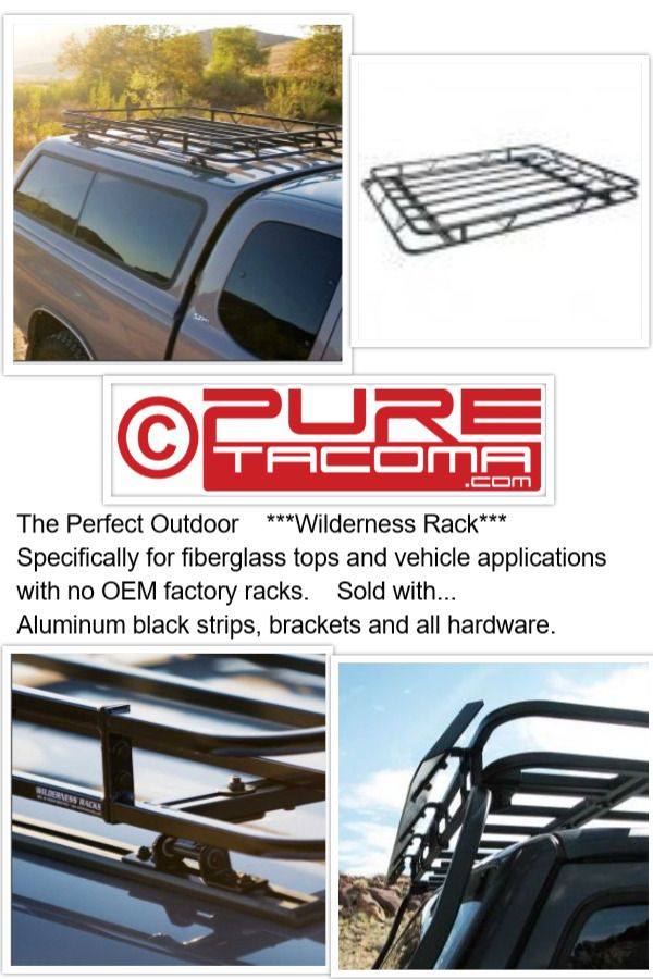 Roof Racks and endless accessories for all your upcoming adventures. www.PureTacoma.com