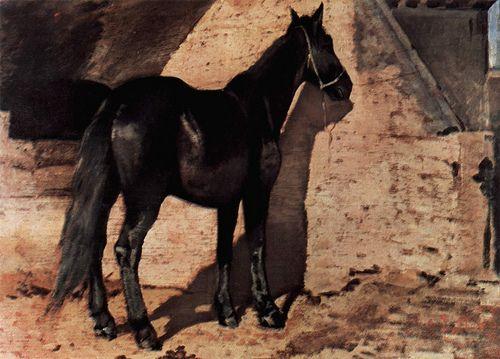 Fattori, Giovanni (1825-1908) - 1880-85 Black Horse in the Sun (Collection Jucker, Milan, Italy)