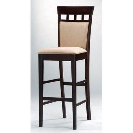 Amazon Com Set Of 2 30 Quot H Bar Stools With Upholstered
