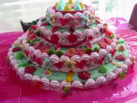 como hacer una tarta de chuches paso a paso / Candy Cake