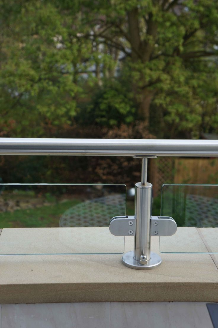 Stainless Steel and Glass Handrail Exterior Glass Balcony