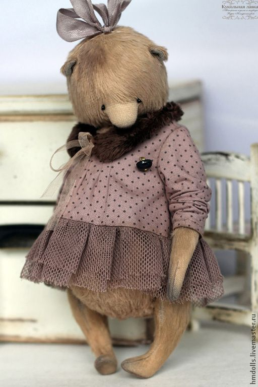 Матильда - коричневый,какао,грязно-розовый,мишка,тедди,мишка тедди,авторский мишка