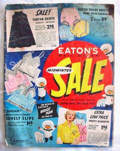 1955 Eaton's Canada Sale Flyer Catalog Catalogue Store   eBay