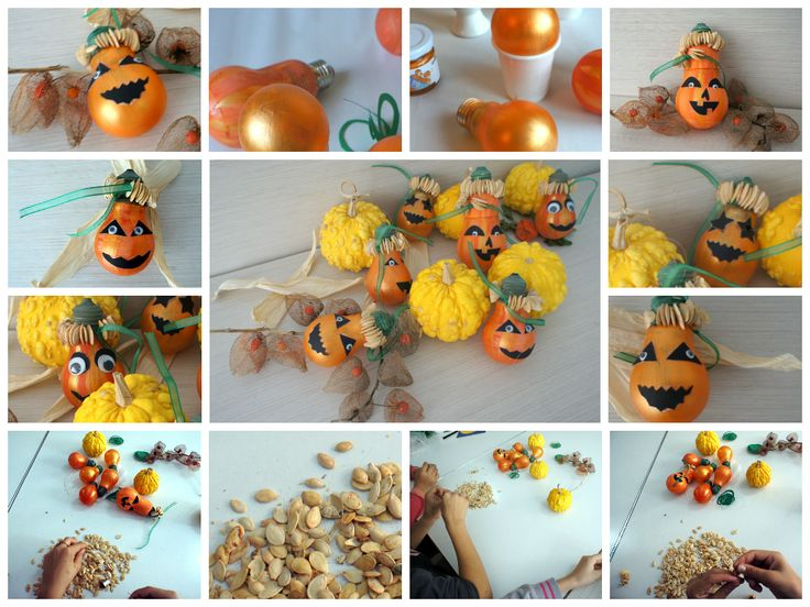 Pumpkins  - bulbs, pumpkins seeds, plastic mobile eyes