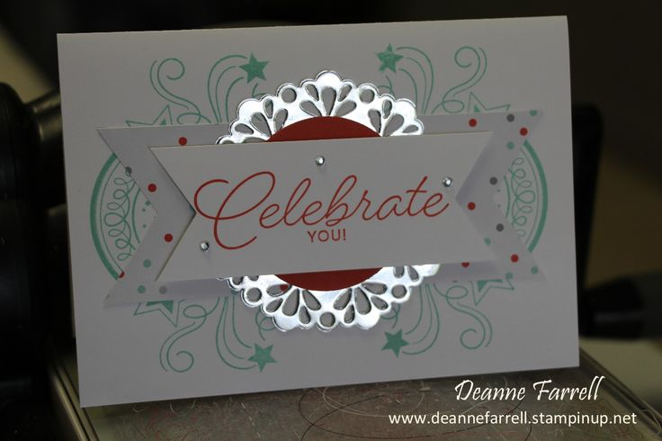 Stampin' Up! Celebrate Card using Birthday Blast Stamp Set