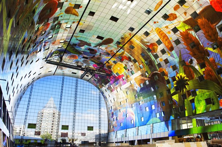 Market Hall In Rotterdam Has A Spectacular Sq Ft Mural - Incredible 36000 sq ft mural lines ceiling market hall rotterdam