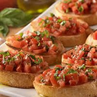 Olive Garden Bruschetta: http://www.olivegarden.com/Connections-to-Italy/Recipes/Appetizers/Bruschetta-al-Pomodoro/