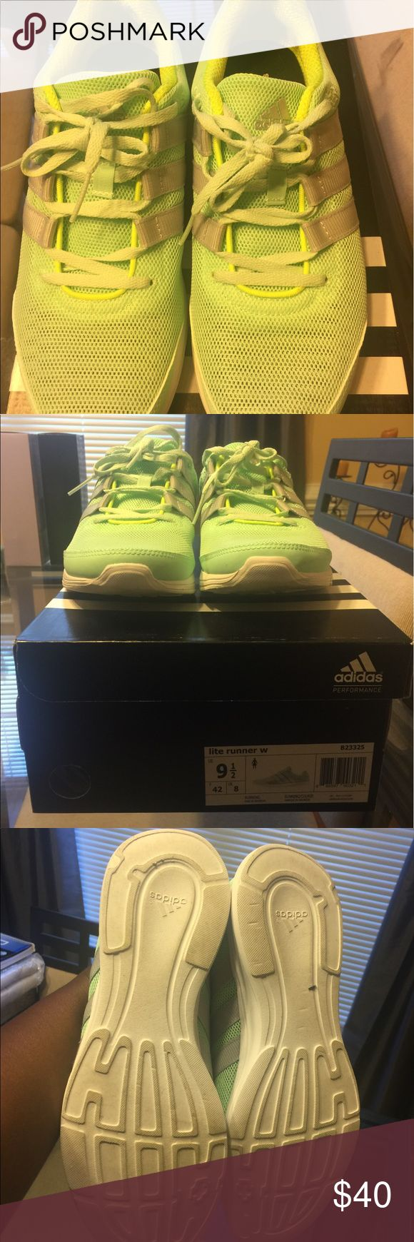 Adidas Neon Running Sneakers Size 9.5 Adidas Shoes