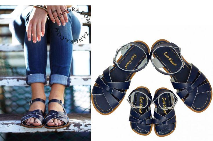 sandales d'eau en cuir - bleu
