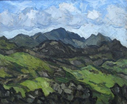 Sir Kyffin Williams -- Welsh mountain landscape.