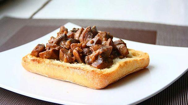Закуска из грибов с бальзамическим уксусом
