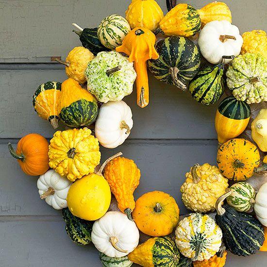 Mini Gourd and Pumpkin Wreath