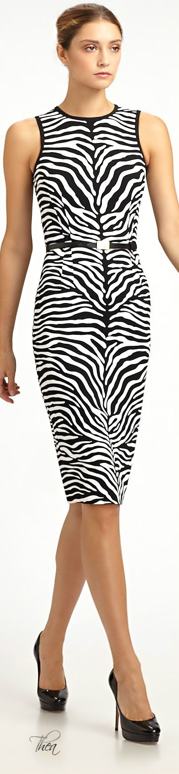 Michael Kors ● Zebra print Sheath Dress
