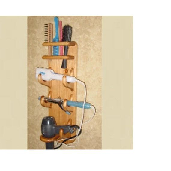 Bathroom Organizer   Flat Iron Holder  by TwinMtnCollections, $41.95