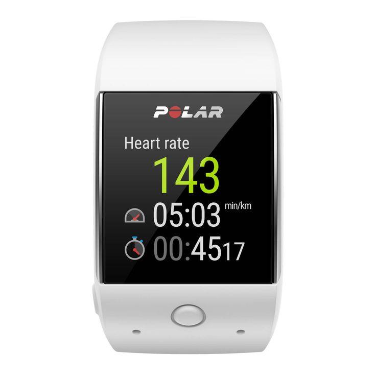 Polar M600 sporthorloge  Description: Het Polar M600 sporthorloge met hartslagmeter houdt de hele dag door je activiteiten bij en laat zien hoe je actieve keuzes bijdragen aan je gezondheid. Je activiteiten worden 24/7 gevolgd en het horloge biedt je ondersteuning bij het behalen van je persoonlijke doelen. De hartslagmeting vanuit de pols werkt eenvoudig: je doet het horloge iets strakker om je pols en je kunt starten met je training. De geïntegreerde GPS laat precies zien waar je loopt wat…