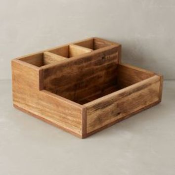 Reclaimed Wood Catchall by Anthropologie Brown