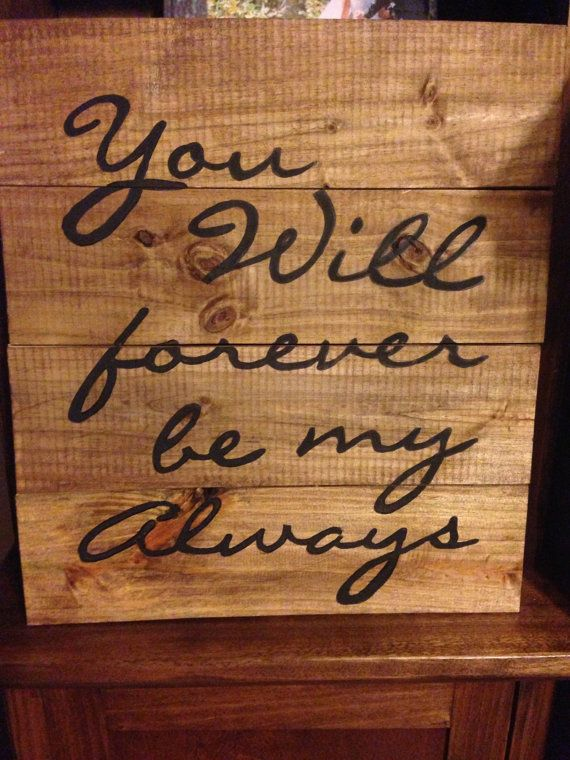 Sweet wooden sign