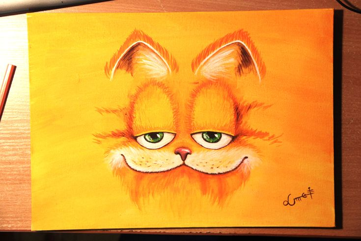 My old #painting of #garfield. #art #acrylicpainting
