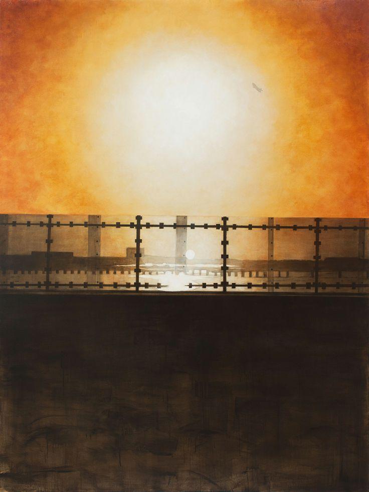 "Jamaica Bay from the Cross Bay Bridge 2014 acrylic on canvas 86"" x 65"""