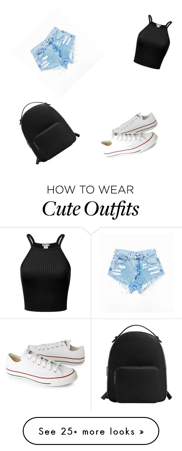 """""""Cute school outfit for high schoolers"""" by kaylee030905 on Polyvore featuring Converse and MANGO"""