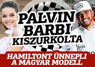 Palvin Barbi ünnepel, ezt üzente Hamiltonnak