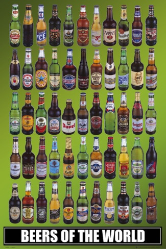 Beers of the World Poster from Allposters #Poster #Beer #World