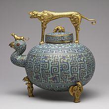 Chinese cloisonné enamel wine pot, 18th century - Wikipedia, the free encyclopedia
