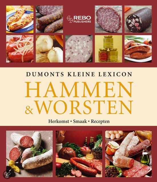 Dumonts kleine lexicon HAMMEN WORSTEN - Tatjana Wehmeyer - ISBN 9789036620345. ALLES OVER DE HEERLIJKE WERELD VAN HAMMEN EN WORSTEN. * De geschiedenis van worst en ham * Lekkernijen met worst en ham * Soorten: salami, mortadella, ham, metworst, tataar, pastei, leverworst, zult, aspic etc. * De vaktermen * Recepten GRATIS VERZENDING - BESTELLEN BIJ TOPBOOKS VIA BOL COM OF VERDER LEZEN? DUBBELKLIK OP BOVENSTAANDE FOTO!