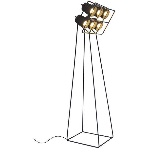 Seletti Multilamp floor lamp (26,205 PHP) ❤ liked on Polyvore featuring home, lighting, floor lamps, home & gardenlighting, modern lighting, rectangle lamp shade, rectangle lamp, yellow lights and rectangular lamp shade