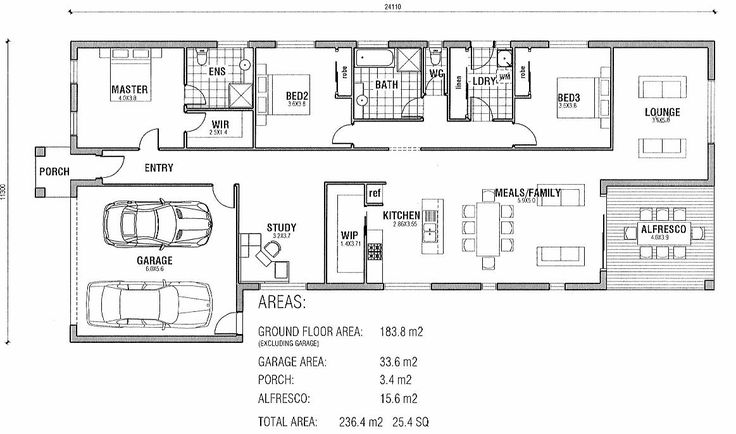 Modern 3 bedroom house floor plans