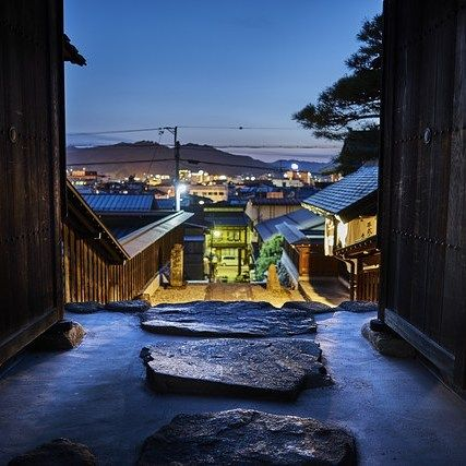#GATE TO #ENLIGHTENMENT by @christophermelzig #Photocircle #nofilter #goodnight #happyweekend #eveningmood #Japan #Asia #stairway #Takayama #longexposure #nightskies #lights  #bluehour #nighttime #night #gifu #shrine #temple #hidatakayama  #Closethecircle- if you buy this photo Christopher Melzig and Photocircle #donate 11% to provide an #oxygen concentrator for patients with #TB in #EastTimor