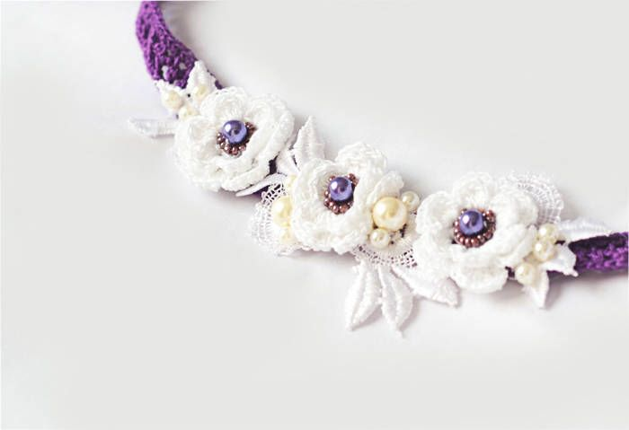 A personal favourite from my Etsy shop https://www.etsy.com/listing/572351208/floral-bridal-headband-color-of-the-year