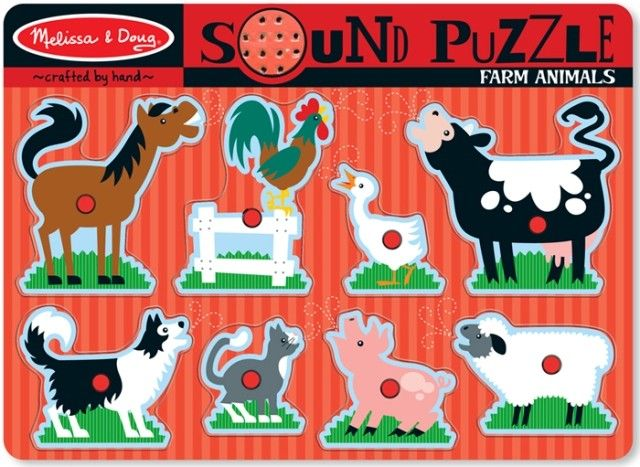 More than just a puzzle, learn the animal sounds  Melissa & Doug - Sound Puzzle Farm Animals #EntropyWishlist #PinToWin
