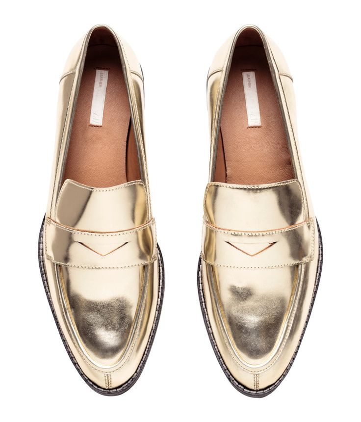 Gold Loafers | H&M Shoes