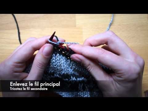 Technique de tricot : le jacquard - YouTube